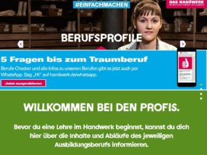 Screenshot von handwerk.de