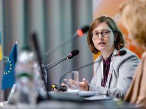 Sophia Grunert during her presentation to the Eastern Partnership Forum in 2019