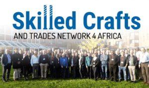 Gruppenfoto mit Logo von Skilled Crafts