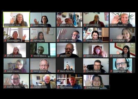 Gruppenbild des virtuellen Kick-Off Workshops von MSE-VET Italy